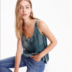 J.Crew Velvet tank top in Gentle Sea sz 4